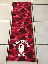 Bape A Bathing Ape Scarf Red Pink Camo Muffler Nigo Classics Vintage Shark