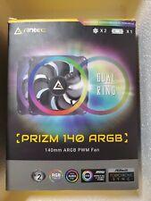 Antec 140mm RGB Case Fan RGB PC Fans Addressable RGB Fans Prizm Series 2 Pack