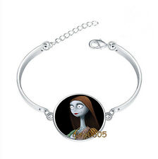 Jack Skellington and Sally Bracelet Photo Glass Cabochon Tibet silver Bracelets