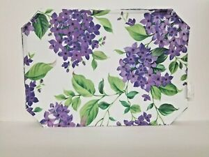Set of 4 Hydrangea Blossoms Placemats - Purple