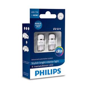 2x Philips W5W T10 12V Kalt Weiß CeraLight Ersatz Innenlicht Birnen 127996000KX2