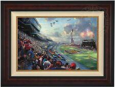 Thomas Kinkade Nascar Thunder 18 x 27 LE G/P Framed Canvas (Burl Frame)