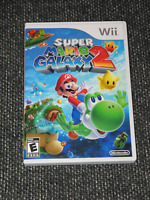 """Super Mario Galaxy 2""  Preowned/Wii/BL/Complete/Mint Disc  Ships Boxed!"