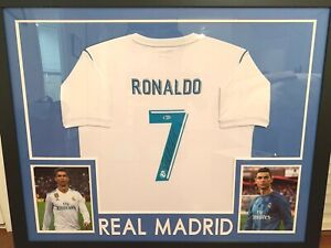 Cristiano Ronaldo Autographed Signed Real Madrid Jersey Framed Beckett