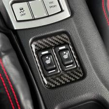 Carbon Fiber Car Electric Heated Seat Button Frame Trim For Toyota 86 Subaru BRZ