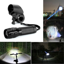 CREE Q5 LED 8000 Lumens Zoomable Flashlight Torch Bike Headlight Bicycle Mount