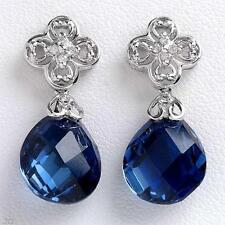 Butterfly Drop/Dangle Sapphire Fine Earrings