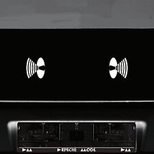 2 Aufkleber 8cm weiß Lautsprecher Symbol Auto Tür Tattoo Deko Folie Depeche Mode