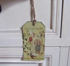 signet marque-page tag étiquette en métal décoration fleurs jardin shabby chic