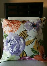 """Beautiful Floral & Striped Linen Throw Pillow Case Cover 18"""" US Seller"""