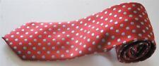 "New Creazioni Tucci Firenze Red Blue Polka Dot Mens Italian Silk Neck Tie 59"""