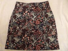 H&M  EMBROIDERED  BLACK  MINI  SKIRT SIZE  8 TO 10