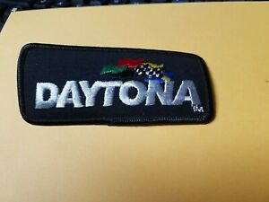Black  DAYTONA     embroidered   Patch  with flags