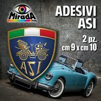 Adesivi / Stickers ASI auto ruote storiche old rally legend epoca OFFERTA! 9X10