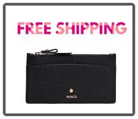FREE POST MIMCO BLACK ROSE GOLD SUBLIME SLIM WALLET Matte Leather RRP89.95