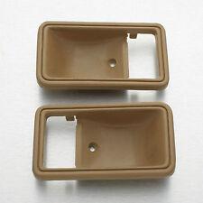 78-83 Toyota Hilux RN30 LN40 truck pair inner door handle cup bezel Brown