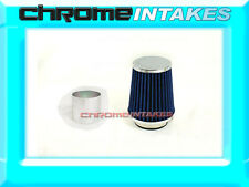 "BLUE UNIVERSAL 3"" 76mm SMALL AIR FILTER FOR VOLVO/JAGUAR AIR INTAKE+PIPE"
