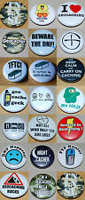 Geocaching Button Badge 25mm / 1 inch - Choose from 21 designs! Geocache Swag