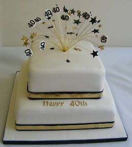 HANDMADE 21st birthday wired star and '21' cake topper - diff colours available