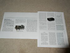 Dynaco Dynakit Stereo 70 Tube Amplifier Review, 2 page, 1959, Full Test, SPECS