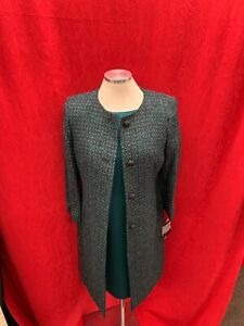 ALBERT NIPON DRESS SUIT/NEW WITH TAG/RETAIL$280/SIZE 8/LINED /MALACHITE GREEN