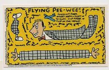 Peewee Playhouse Card #3 Pee Wee Herman Topps 1988 Punch out Flying! MINT