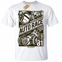 Auto Race T-Shirt grand prix car racing championship formula 1 mens white