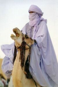 Sahara African Long Tuareg Scarf - White - Long Handmade Ethnic Turban