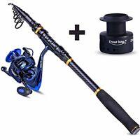 EDC Pen-Type Mini Fishing Rod Drum Aluminum Alloy Fishing Pole Reel Combos