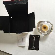 Orrefors Crystal Votive or Tea light Candle Holder ~ Heart Shape - Sweden