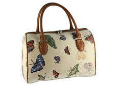 Signare Ladies Woven Tapestry Travel Holdall Handbag / Bag In Butterfly Design