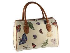 Signare Ladies Woven Tapestry Travel Holdall Handbag / Bag In Butterfly Design