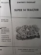 Sears Super 14 Suburban 917.25640 Lawn Garden Tractor Owner & Parts Manual 1971