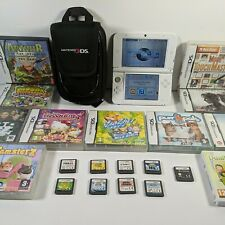 Nintendo 3DS XL White Handheld Console System bundle with 20 games