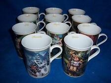 11 Danbury Mint M. I. Hummel Porcelain Collector Mugs Jan - Nov - Euc