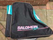 Salomon Club Ski Boot Bag Light wear, turquoise & black with pink trim