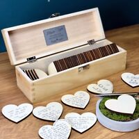 Guest Book Alternative Wedding Personalised Hearts Guestbook Rustic Drop Box