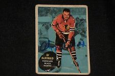AB McDONALD 1961-62 TOPPS SIGNED AUTOGRAPHED CARD #27 CHICAGO BLACK HAWKS