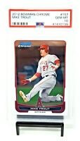 2012 Bowman Chrome Angels MIKE TROUT Early Years Baseball Card PSA 10 GEM MINT