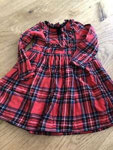 Next Girls Red Tartan Dress 3-4 Years