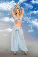 Heavenly Genie Costume - 2 Piece Adult Woman Belly Dancer