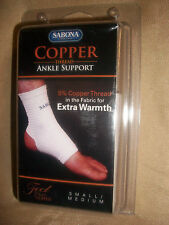 small medium  Sabona ANKLE SUPPORT w/ COPPER   sports sleeve tennis basketball