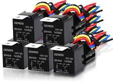 (5 PACK) 12V DC 30A/40A Relay & Socket Auto Automotive Relay & Wires