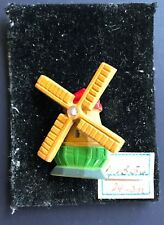 Vintage Brooch - Antique Dutch Windmill Pin