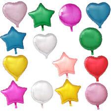 Star Heart Round Wedding Balloons 18 Inch Foil Helium Lockdown Birthday Party