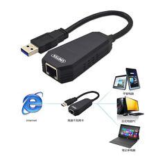 USB 3.0 vers Ethernet RJ45 Adaptateur Carte Réseau LAN pour Mac Windows 10/1000M