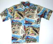 Rare Vintage Reyn Spooner Hawaiian Camp Shirt S/M Big Scene Yesteryear NWOT