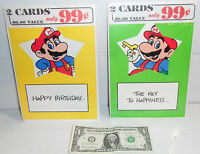 Nintendo Mario Bros 2 Era Greeting Card Pack Lot of 4! BRAND NEW Nexoft NOS 1989