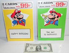 Nintendo Mario Bros 2 Era Greeting Card Pack Lot of 4! BRAND NEW Nexoft NOS 1989