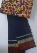 South Cotton pure handloom saree Navy Blue